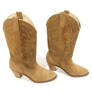 Acme Western cowboy boots Brown leather Women 9